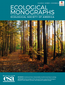 Cover image of Ecological Monographs, Volume 90, Number 4